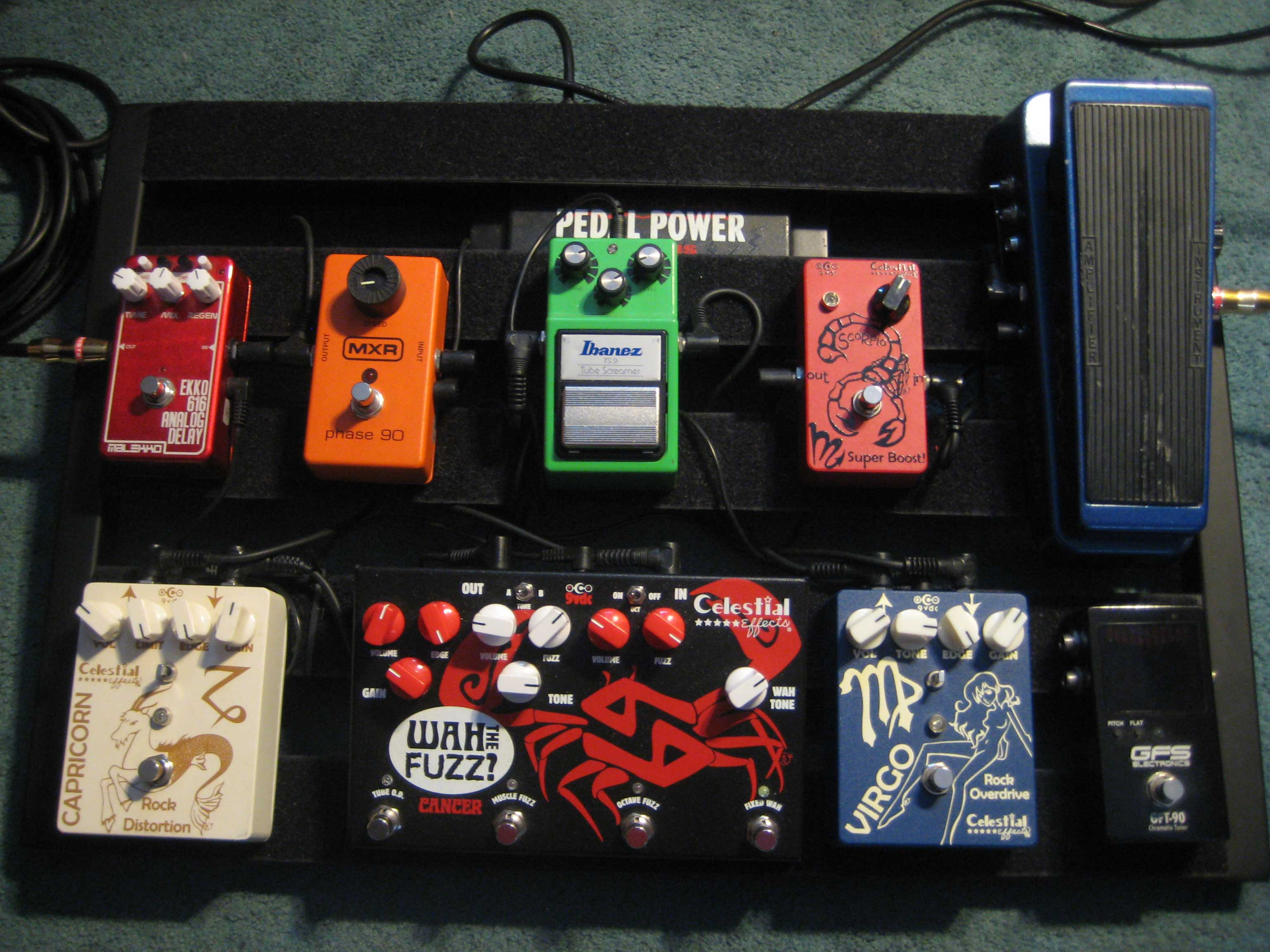 Celestial Effects Pro Quality Guitar Wah Circuit But With No Up And Down Variation Like The Pedal Allows Anthony Santoro Pedalboard